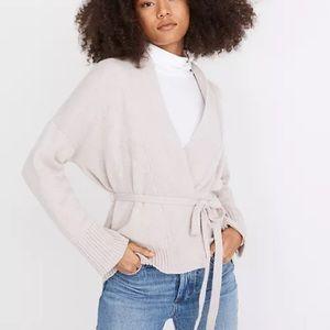 Madewell wrap cardigan merino blend textured sweater cardigan size XXS